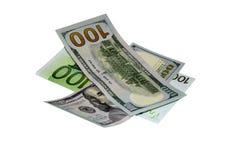 Rublo del euro de USD Imagen de archivo libre de regalías