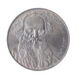 Rublo di LN Tolstoy URSS Fotografia Stock Libera da Diritti