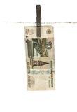 Rublo do russo Imagem de Stock