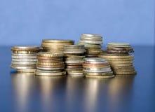 Rublo russa delle nuove monete commemorative Fotografie Stock Libere da Diritti