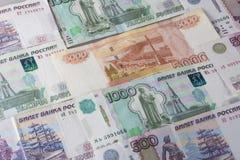 Rublo russa soldi Fotografia Stock Libera da Diritti