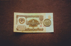 Rublo sovietica russa Immagini Stock
