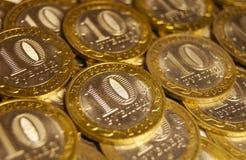 10 rublos Imagens de Stock