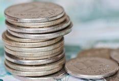 Rublos das moedas Fotos de Stock