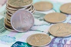 Rublos das moedas Imagem de Stock