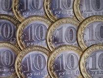 10 rublos de russo Imagem de Stock Royalty Free