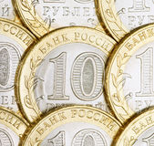 10 rublos de russo Imagens de Stock