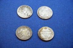 Rublos de russo antigos Fotografia de Stock Royalty Free