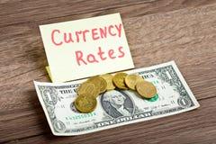 70 rublos de russo por 1 dólar americano Fotos de Stock Royalty Free