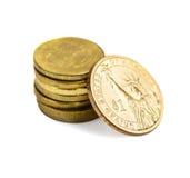 70 rublos de russo por 1 dólar americano Fotografia de Stock