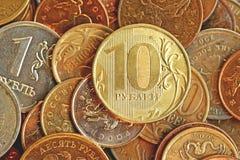 10 rublos del banco de Rusia Foto de archivo