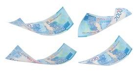 Rublos do dinheiro fotografia de stock