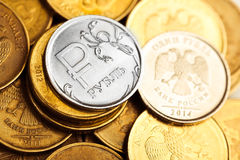 Rublos do russo Imagens de Stock
