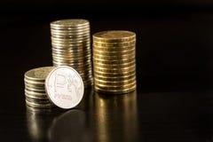 Rublos do russo Fotografia de Stock