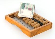 Rublos em ábacos. Foto de Stock Royalty Free