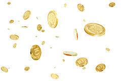 Rublos no ar. Foto de Stock Royalty Free