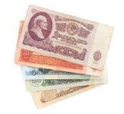Rublos obsoletas de URSS Imagen de archivo libre de regalías