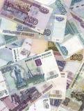 Rublos rusas Imagenes de archivo