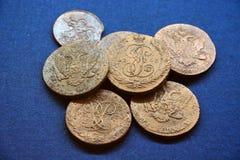 Rublos rusas antiguas Foto de archivo libre de regalías