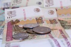 Rublos rusas 2 del dinero Fotografía de archivo libre de regalías