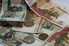 Rublos rusas del dinero Fotos de archivo libres de regalías