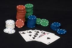 Rubor del póker Imagen de archivo libre de regalías