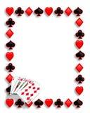 Rubor real de la frontera del póker de las tarjetas que juegan Imágenes de archivo libres de regalías