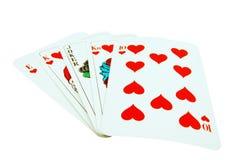 Rubor real de la tarjeta con el bromista. Imágenes de archivo libres de regalías