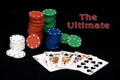 Rubor real del póker foto de archivo libre de regalías