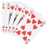 Rubor real, manos de póker Imagen de archivo libre de regalías