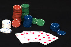 Rubor recto del póker Imágenes de archivo libres de regalías