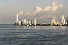 Rubriek in Cartagena bij dageraad royalty-vrije stock foto
