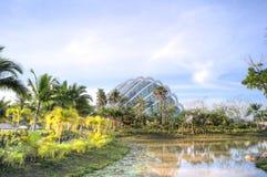 Rubrique de description en verre, jardins par le compartiment, Singapour Image stock