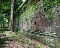 Rubrique de description royale, temple de Phimeanakas. Le Cambodge Photos libres de droits