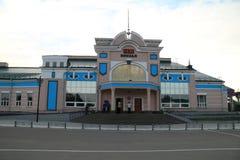 Rubtsovsk, σιδηροδρομικός σταθμός Στοκ φωτογραφία με δικαίωμα ελεύθερης χρήσης