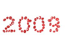 Ruby : 2009. 3d rendered illustration of many rubies Stock Photography