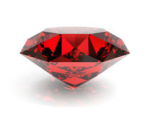 Ruby. Very high resolution 3d rendering of a ruby isolated over white Royalty Free Stock Photos