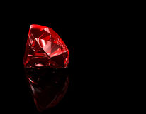 Ruby 3D Black Background Royalty Free Stock Photos
