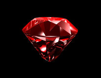 Ruby 3D Black Background Stock Photography