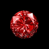 Ruby 3D Black Background Royalty Free Stock Photo