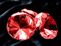 Ruby. A close up on a Ruby jewel on a dark background. Shallow DOF Royalty Free Stock Photo