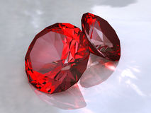 Ruby. The faceted Ruby on a white background Royalty Free Stock Images