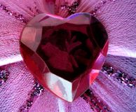 Ruby anniversary. Heart token of lasting love Stock Photography