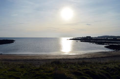 Ruby Bay, Elie, Fife, Scotland - North Sea, evening sun Stock Images