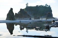 Ruby Beach no parque nacional olímpico fotografia de stock