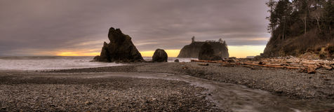 Ruby Beach Panorama Royalty Free Stock Images