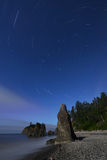 Ruby Beach star trails Royalty Free Stock Photos