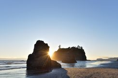 Ruby Beach Sunset Royalty Free Stock Photo