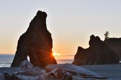 Ruby Beach Sunset Stock Image