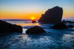 Ruby Beach Sunset Stock Photo